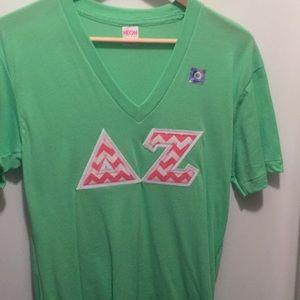 Delta Zeta stitch letter T-shirt size small